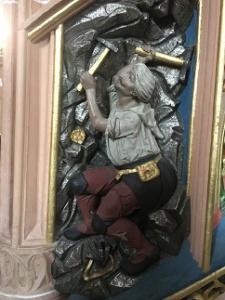Výjev horníka v kostele sv. Anny